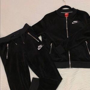 Black Velvet Nike Outfit